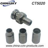 Adaptador del prensado BNC del CCTV del varón para el cable Rg58/Rg59/RG6 (CT5020)
