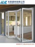 Porte en aluminium de modèle à extrémité élevé pour la porte Bifold en verre