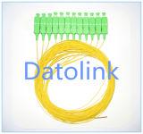Le tresse SC/PC millimètre desserrent la couleur d'Aqua du tube 50/125 Om3 2m LSZH
