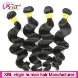 Человеческие волосы девственницы Xbl камбоджийские чисто