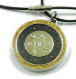 ステンレス鋼のダイヤモンド生物エネルギーQuantumのペンダント