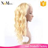 Mujeres blancas de la peluca del platino del pelo humano del cordón 613 del color del pelo de las pelucas rubias llenas rubias del pelo humano, la mejor peluca de mirada natural