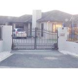 Revestimiento de polvo negro de Aluminio Metal jardín puerta valla de seguridad
