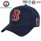 Logotipo personalizado bordados sarjado de algodão de esportes de alta qualidade Boné azul
