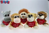 "5.9 "" Plush Tiger Big Eyes Toy with Heart Pillow for Valentines Day Bos1177"