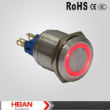 Hbgq22-11/E/SリングLED 22mmの金属の押しボタンスイッチ