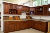 Armário de cozinha americano da cor da noz do estilo