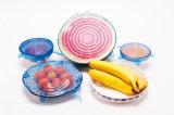 Крышки силикона простирания 8 пакетов супер к еде Perserve