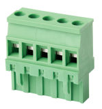 bloco terminal Pluggable do passo de 7.5mm com parafuso
