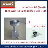 Fuoco principale basso 9.75/10.6GHz della fascia LNBF di Nosie Ku di alto guadagno
