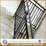 Montado en el exterior de aluminio resistente a la corrosión del hierro escalera pasamanos pasamanos escalera