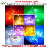 20LED 구리 철사 LED 건전지 빛은 안으로 색깔을 변화한다