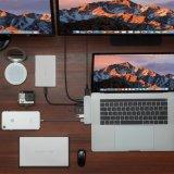 MacBook 2016/2017 직업적인 40gbs 벼락을%s 허브 유형 C 접합기 3, Pass-Through 비용을 부과, USB-C 데이터 포트, 4K HDMI, SD/Micro 카드 판독기 및 2 USB 3.0