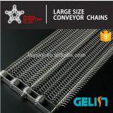 El tono de doble cadena transportadora de acero inoxidable 316 con el cable de la correa de Mash