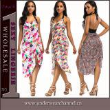 Mode Femmes de l'été imprimé floral Sexy Maxi Tenue décontractée (TLL5036)