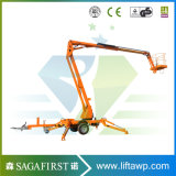 10m 200kg Mobile Hydraulic Towable Articulated Boom Lift