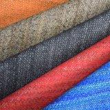 Couro de sapata sintético gravado textura do saco do plutônio do falso do Weave de cesta