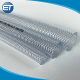 L'étirement flexible aspirateur industriel plastique PVC tressé en nylon flexible du tuyau de l'eau