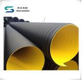大口径ISOのHDPEの鋼鉄によって補強される波形の下水管管