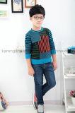 Contraste de chemise de gosses de Karen le long a coloré le chandail tricoté