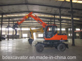 中国保定の車輪の掘削機の木製のLoaidng機械Bd80-8