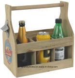 Weinlese-Retro Soda-Knall-Küche-Stab-Flaschen-Öffner-hölzerner Halter-Träger-Rahmen