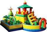 Heißes verkaufendes aufblasbares federnd Schloss mit Wasser-Plättchen