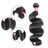 Tecelagem brasileira do cabelo humano do Virgin da extensão do cabelo da onda do corpo preto da natureza
