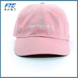Le polyester fait sur commande blanc de coton de logo folâtre la casquette de baseball de chapeau de golf
