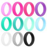 O anel de borracha de silicone anéis de casamento para Mens e sade