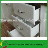 Projetos do gabinete de cozinha do PVC do gabinete de cozinha de madeira do MDF do gabinete de cozinha do preço de fábrica do gabinete de cozinha da mobília da cozinha da floresta do alvorecer