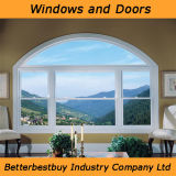 Arch Design UPVC Window for Better Weather Insulated Solution