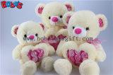 Flor rosa do coração como Monthers Teddy Bear dia Dom em 3 tamanhos