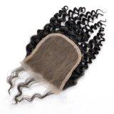 La mano peruviana dei capelli del Virgin ha legato la chiusura liberamente separata del merletto dell'arricciatura di Bebe