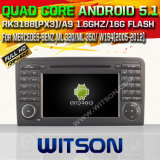 Android 5.1 de Witson para o carro W164 DVD de Mercedes-Benz Ml 320/Ml 350/com sustentação do Internet DVR da ROM WiFi 3G do chipset 1080P 16g (A5558)