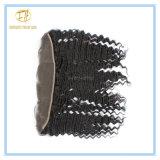 Spitze-Stirnbein der Qualitäts-Vor-Zupfen peruanisches Jungfrau-13*4 mit Haar-Zeile und schnelle Anlieferung Lf-006