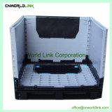 Hochleistungsplastikgabelstapler-Lager-zusammenklappbarer Walzen-Ladeplatten-Behälter