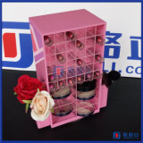 De acryl Kosmetische Organisator van de Make-up met Lippenstift en Compacte Compartimenten