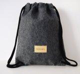 Bolso de polvo de lana de lujo del lazo del fieltro para empaquetar