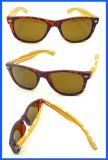 Fqpw161502 De boa qualidade Óculos de sol de templo de bambu colorido