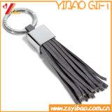 Trousseau de clés en cuir fait sur commande en gros en métal (YB-LK-01)