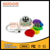 Illuminazione senza cordone della protezione Lamp/LED del proiettore della lampada 4 LED di saggezza