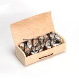 Boîte en bois rond de haute qualité pour le thé de l'emballage