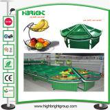 Acrylgemüsefrucht-Bildschirmanzeige-Zahnstangen-Regal für Supermarkt