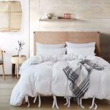 Normallack-beiläufiges modernes Art-Bettwäsche-Set mit entspanntes weiches Gefühl-natürlichem geknittertem Blick