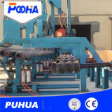 Máquina del chorreo con granalla de la rueda de la pared externa del tubo de acero de Qgw