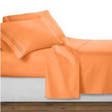 1500 Bordados simples conjunto de roupa de cama de microfibras
