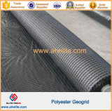 Revestimiento de PVC tejido Poliester Pet Geogrids Warp