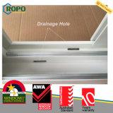 Acristalamiento doble UPVC ventana deslizante con Australia Standard