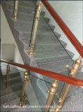 Aluminium moderne de mode et balustrade en bois en verre d'escalier